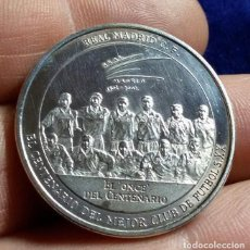 Collectionnisme sportif: MONEDA MEDALLA REAL MADRID C.F .EL CENTENARIO DEL MEJOR CLUB DEL SIGLO XX 1902-2002. Lote 194141857
