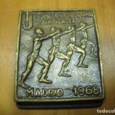Coleccionismo deportivo: ANTIGUA MEDALLA DEPORTIVA. VI JUEGOS SINDICALES. MADRID 1968. Lote 194155636