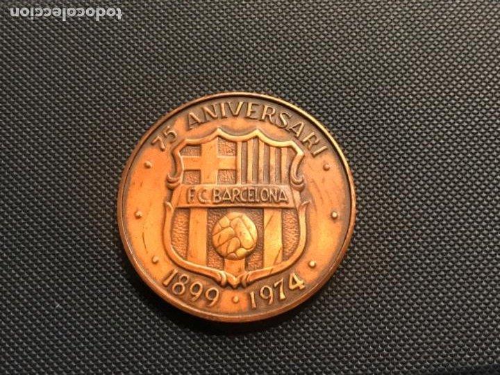 MEDALLA 75 ANIVERSARI DEL FÚTBOL CLUB BARCELONA...1899 - 1974. (Coleccionismo Deportivo - Medallas, Monedas y Trofeos de Fútbol)