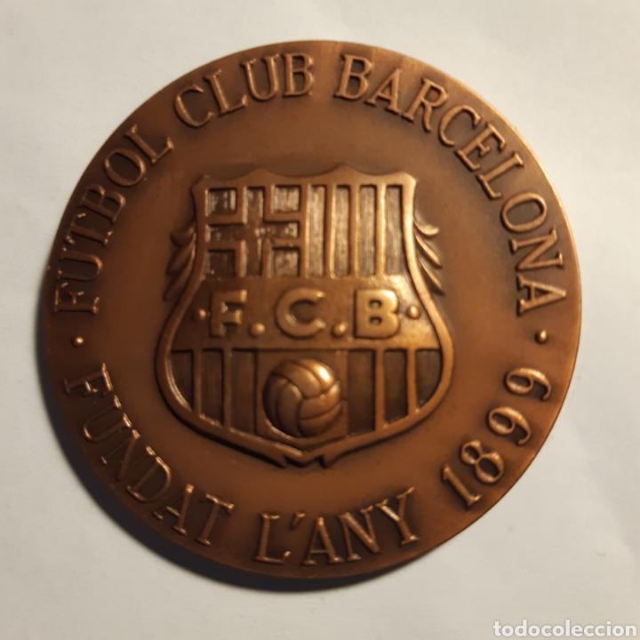 MEDALLA BRONCE FÚTBOL CLUB BARCELONA (Coleccionismo Deportivo - Medallas, Monedas y Trofeos de Fútbol)