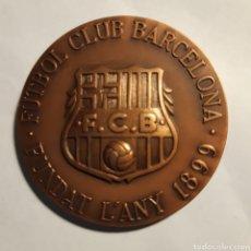 Coleccionismo deportivo: MEDALLA BRONCE FÚTBOL CLUB BARCELONA. Lote 195032650