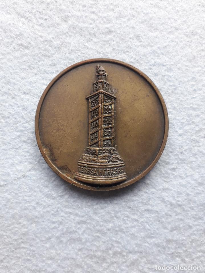 MEDALLA XXXVI TROFEO TERESA HERRERA. LA CORUÑA. AÑO 1981. (Coleccionismo Deportivo - Medallas, Monedas y Trofeos de Fútbol)
