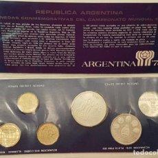 Coleccionismo deportivo: CARTERA ESTUCHE MONEDAS MUNDIAL DE FÚTBOL ARGENTINA 78, (3 DE PLATA). Lote 197639092