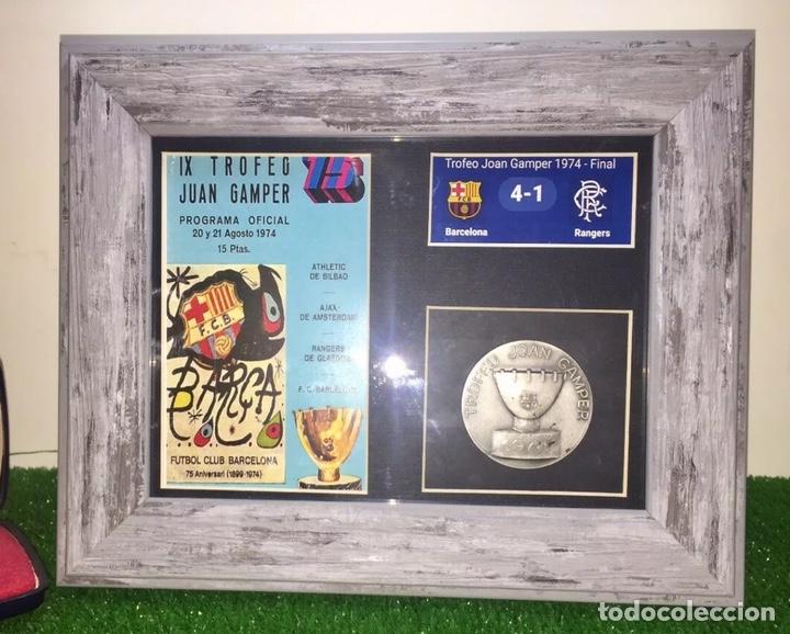Coleccionismo deportivo: FC Barcelona Rangers Medalla Trofeo Gamper 1974 - Foto 2 - 201368990