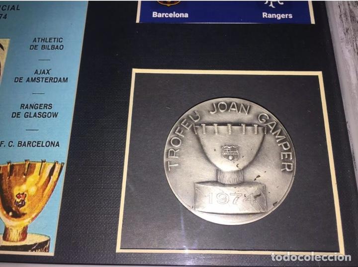 FC BARCELONA RANGERS MEDALLA TROFEO GAMPER 1974 (Coleccionismo Deportivo - Medallas, Monedas y Trofeos de Fútbol)