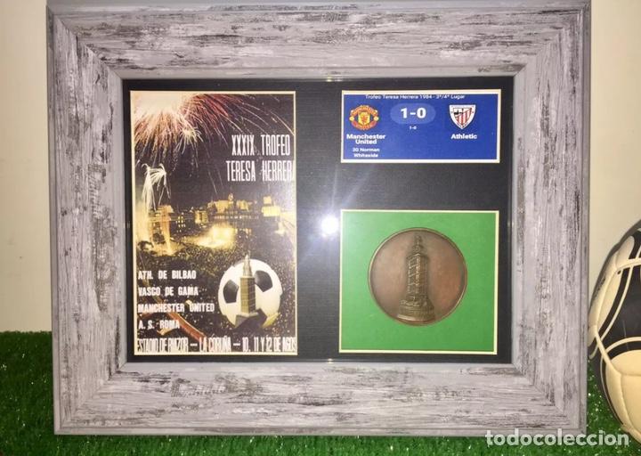 MANCHESTER UTD ROMA BILBAO VASCO GAMA MEDALLA TERESA HERRERA 1984 (Coleccionismo Deportivo - Medallas, Monedas y Trofeos de Fútbol)