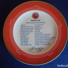 Coleccionismo deportivo: (F-200593)PLATO DE LA GALA DE LA UEFA MONACO 98 EDICION LIMITADA. Lote 206244720