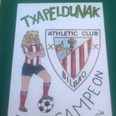 Coleccionismo deportivo: ANTIGUO BALDOSIN CON EL ESCUDO - ATHLETIC CLUB BILBAO - TXAPELDUNAK - SUPERCAMPEON 1.983-84. Lote 206464738