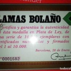 Coleccionismo deportivo: MONEDA CONMEMORATIVA MUNDIAL DE FUTBOL DE 1982 EDITADA POR LAMAS BOLAÑO-CERTIFICADA Y NUMERADA. Lote 207425290