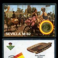 Coleccionismo deportivo: CARNET OFICIAL CON MONEDA AUTENTICA DE 1 PESETA MUNDIAL DEL 1982 - (BENITO VILLAMARIN - SEVILLA ). Lote 208974926