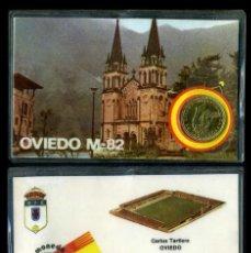 Colecionismo desportivo: CARNET OFICIAL CON MONEDA AUTENTICA DE 1 PESETA MUNDIAL DEL 1982 - ( CARLOS TARTIERE - OVIEDO ). Lote 208975858