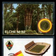 Coleccionismo deportivo: CARNET OFICIAL CON MONEDA AUTENTICA DE 1 PESETA MUNDIAL DEL 1982 - ( NUEVO ESTADIO - ELCHE ). Lote 208976101