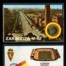Collectionnisme sportif: CARNET OFICIAL CON MONEDA AUTENTICA DE 1 PESETA MUNDIAL DEL 1982 - ( LA ROMAREDA - ZARAGOZA ). Lote 208976732