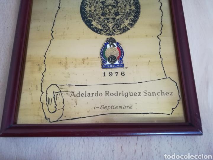 Coleccionismo deportivo: ADELARDO. PARTIDO HOMENAJE. Placa de la Federación Mexicana de Fútbol. - Foto 2 - 209137558