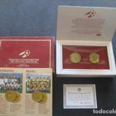 Coleccionismo deportivo: ESTUCHE MONEDAS CONMEMORATIVAS MUNDIAL FUTBOL ESPAÑA 82. ALEMANIA - BRASIL. Lote 211973910