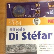 Coleccionismo deportivo: REAL MADRID- MONEDA 30 LOGAS DISTEFANO-. Lote 214553856