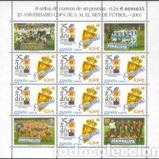 Coleccionismo deportivo: REAL ZARAGOZA..25 ANIVERSARIO COPA DEL REY.2001 REAL ZARAGOZA CAMPEÓN. Lote 215670540