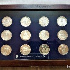 Coleccionismo deportivo: COLECCIÓN DE MONEDAS DEL CENTENARIO DEL REAL MADRID 1902-2002. Lote 216568872