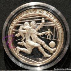 Coleccionismo deportivo: MEDALLA DE PLATA CATALUNYA FUTBOL MUNDIALS 1982 EDICION ESPECIAL DE LA CAIXA. Lote 216011060