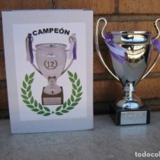 Coleccionismo deportivo: TROFEO CHAMPIONS LEAGUE REAL MADRID JUVENTUS Nº 12 CARDIFF METAL TROPHY CUP COPA. Lote 217982925