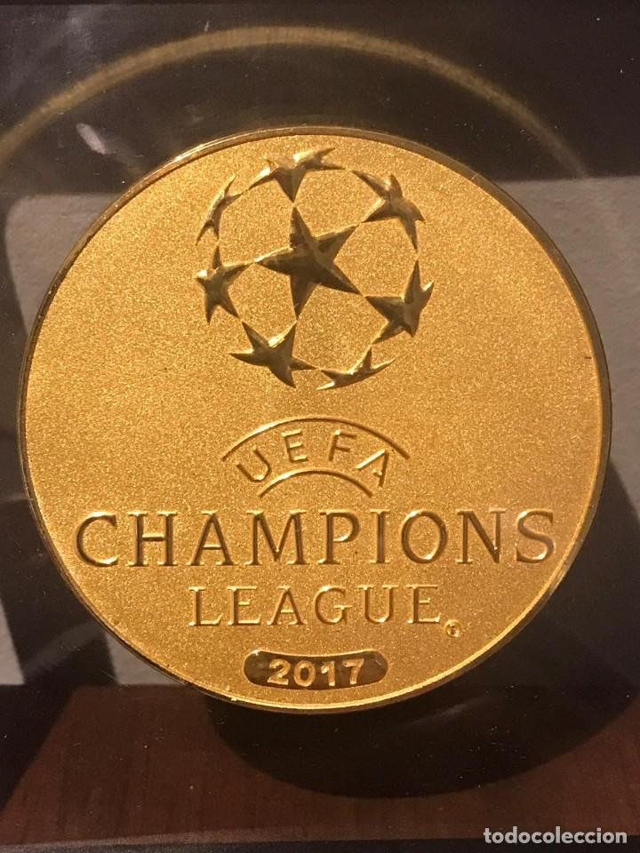 Coleccionismo deportivo: MONEDA UEFA CHAMPIONS LEAGUE 2017 CAMPEON REAL MADRID C.F. - Foto 1 - 219028888