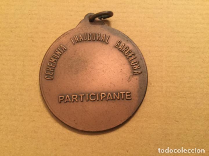 Coleccionismo deportivo: MEDALLA CEREMONIA INAUGURAL MUNDIAL 82 PARTICIPANTE 1982 - Foto 2 - 220362533