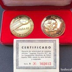Coleccionismo deportivo: ESTUCHE OFICIAL MONEDAS CONMEMORATIVA MUNDIAL 82 DE FUTBOL. CERTIFICADO OFICIAL. Lote 221445815