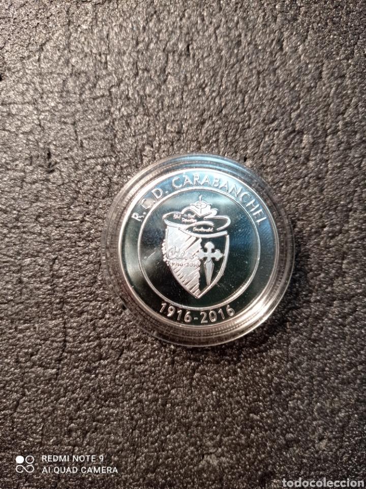 MONEDA PLATA R.C.D. CARABANCHEL (Coleccionismo Deportivo - Medallas, Monedas y Trofeos de Fútbol)