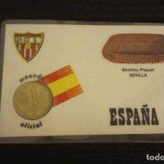 Coleccionismo deportivo: -MONEDA PLASTIFICADA CONMEMORATIVA MUNDIAL ESPAÑA 82 - SEVILLA SEDE SEVILLA , NUMISMATICA. Lote 232240845