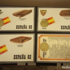 Coleccionismo deportivo: -MONEDA PLASTIFICADA CONMEMORATIVA MUNDIAL ESPAÑA 82 - LOTE DE 4 MONEDAS , NUMISMATICA. Lote 233186885