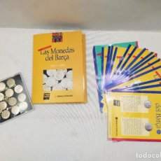 Coleccionismo deportivo: LAS MONEDAS DEL BARÇA. 1899-1999. PLATA 800. 15 MONEDAS. MUNDO DEPORTIVO. BANCA CATALANA.. Lote 235925785