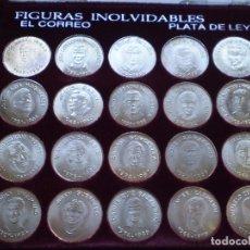Coleccionismo deportivo: COLECCION 20 MONEDAS DE PLATA FIGURAS INOLVIDABLES DEL ATHLETIC CLUB DE BILBAO. Lote 238465040