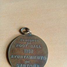 Coleccionismo deportivo: MEDALLA CONCURSO DE FOOT-BALL 1908 AYUNTAMIENTO DE SANTOÑA. Lote 246266230