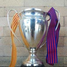 Coleccionismo deportivo: REPLICA COPA CHAMPIONS ROMA 2009 TRIPLETE COPA LLIGA Y CHAMPIONS FC. BARCELONA 2 MANCHESTER UNITED 0. Lote 253350280