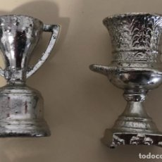 Coleccionismo deportivo: FCBARCELONA LOTE DE 2 TROFEOS EN MINIATURA COPA DE LA LIGA Y SUPERCOPA DE ESPAÑA. Lote 254445220