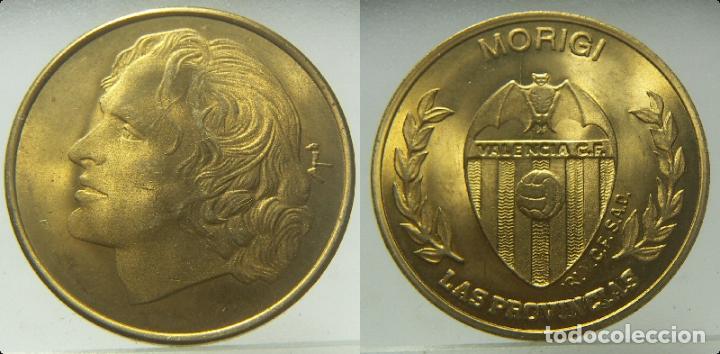 MEDALLA MORIGI VALENCIA CLUB DE FUTBOL, DE LAS PROVINCIAS (Coleccionismo Deportivo - Medallas, Monedas y Trofeos de Fútbol)