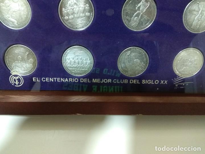 Coleccionismo deportivo: MARCA. El centenario del mejor club del siglo XX. Colección de 12 monedas y estuche. - Foto 2 - 262149265