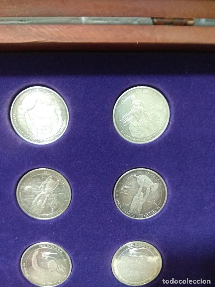 Coleccionismo deportivo: MARCA. El centenario del mejor club del siglo XX. Colección de 12 monedas y estuche. - Foto 7 - 262149265