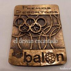 Coleccionismo deportivo: MEDALLA O TROFEO PREMIOS DEPORTIVOS DON BALON.. V PREMIO DE POESÍA DEPORTIVA JUAN A. SAMARANCH. Lote 263901580