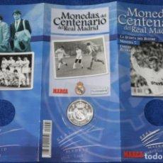 Coleccionismo deportivo: MONEDAS DEL CENTENARIO DE REAL MADRID - MONEDA Nº 5 - LA QUINTA DEL BUITRE - MARCA. Lote 270946098