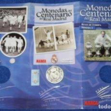 Coleccionismo deportivo: MONEDAS DEL CENTENARIO DE REAL MADRID - MONEDA Nº 1 - REYES DE EUROPA - MARCA. Lote 270946708