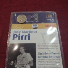 Collezionismo sportivo: MONEDA JOSÉ MARTÍNEZ PIRRI COLECCIÓN PERIÓDICO MARCA.. Lote 275572328