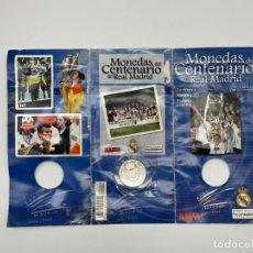 Coleccionismo deportivo: MONEDA 3 DEL CENTENARIO DEL REAL MADRID 1902-2002 - LA OCTAVA, MANOLO SANCHÍS. Lote 286933523
