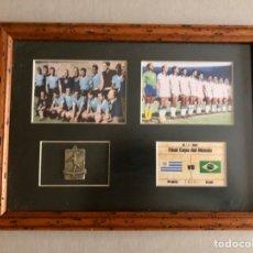 Coleccionismo deportivo: 1950 MUNDIAL DE BRASIL MEDALLA ENMARCADA. Lote 287419838