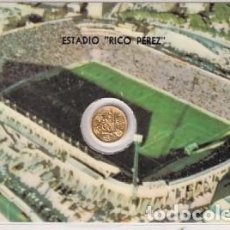 Coleccionismo deportivo: MONEDA OFICIAL CONMEMORATIVA MUNDIAL FÚTBOL ESPAÑA 82 ESTADIO RICO PEREZ HÉRCULES.. Lote 287700833