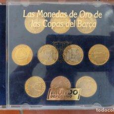 Coleccionismo deportivo: LAS MONEDAS DE ORO DE LAS COPAS DEL BARÇA,AÑOS 90, MUNDO DEPORTIVO.. Lote 289645443