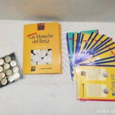 Coleccionismo deportivo: LAS MONEDAS DEL BARÇA. 1899-1999. PLATA 800. 15 MONEDAS. MUNDO DEPORTIVO. BANCA CATALANA.. Lote 291854058