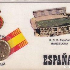 Coleccionismo deportivo: MONEDA OFICIAL CONMEMORATIVA MUNDIAL FÚTBOL ESPAÑA 82 ESTADIO R C D ESPAÑOL BARCELONA.. Lote 293752298
