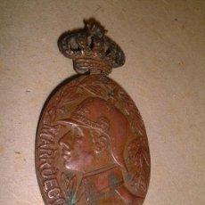Medallas históricas: MEDALLA REINADO DE ALFONSO XIII MARRUECOS, 5 CM. X 3 CM. . Lote 10587586