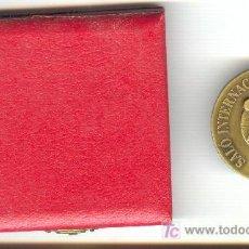 Medaglie storiche: MEDALLA SALON INTERNACIONAL DEL DEPORTE 22-24 MARZO 1992 AÑO OLIMPICO EN CAJA ORIGINAL. Lote 24125889